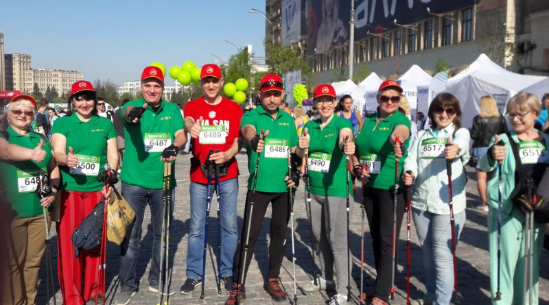 Participation in the V International Kharkov Marathon April 29, 2018