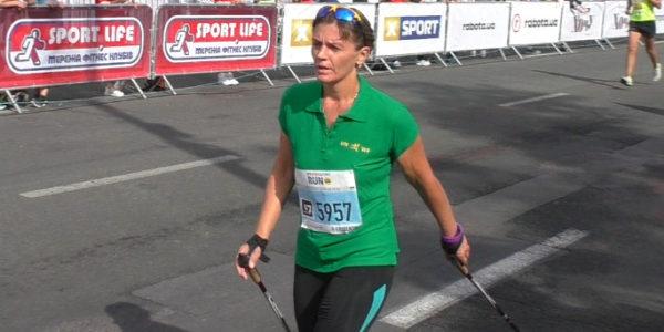 таня Назарова на финише 2